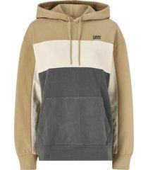 huvtröja wavy colorblock hoodie