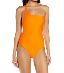 jade swim evolve one-shoulder one-piece swimsuit, size x-large in nectar at nordstrom