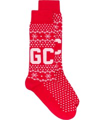 gcds winter logo socks - red