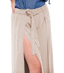 pantalón ancho con corte en colores marca trucco's