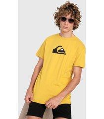 camiseta amarillo-negro quiksilver comp logo