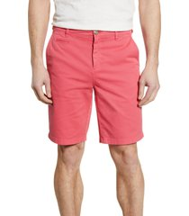 men's johnnie-o neal stretch twill shorts, size 32 - pink