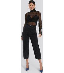 na-kd trend cropped slouchy jeans - black