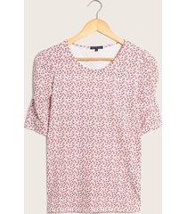 camiseta floral manga ¾ rojo 8