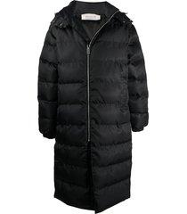 1017 alyx 9sm long padded jacket - black