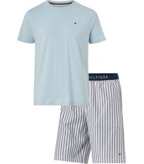 pyjamasset cn ss short woven set check