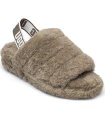 w fluff yeah slide shoes summer shoes flat sandals grön ugg