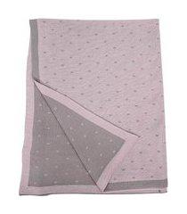 manta tricot dupla face rosa cia do neném minasrey 6031 05
