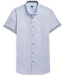 joe joseph abboud brrr° blue plaid short sleeve sport shirt