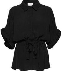 ariana shirt boozt blouses short-sleeved zwart minus