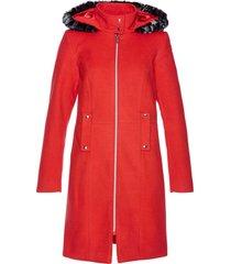 cappotto con ecopelliccia (rosso) - bpc selection