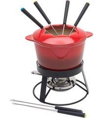 aparelho para fondue em cerâmica 10 peças rojemac vermelho