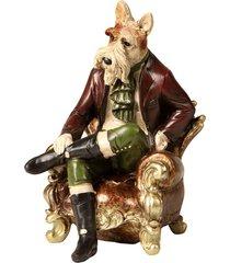 escultura decorativa de resina cachorro noblesse