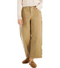 weekend max mara ampezzo cotton wide-leg pants