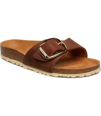 madrid big buckle shoes summer shoes flat sandals brun birkenstock