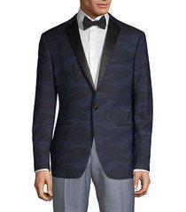 modern-fit patterned wool dinner jacket
