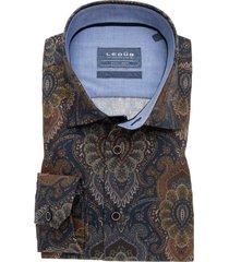 overhemd ledub bruin paisley print