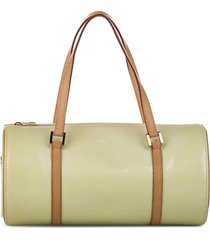 louis vuitton 2007 pre-owned vernis bedford tote bag - white