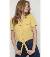 camisacuello clasico amarilla 609 seisceronueve