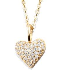 women's baublebar pave heart pendant necklace