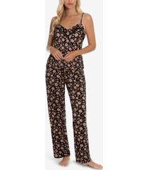 women's macie cimmarron print pajama pant set 2 piece