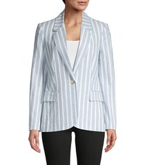 l'agence women's scout striped blazer - light blue - size 4