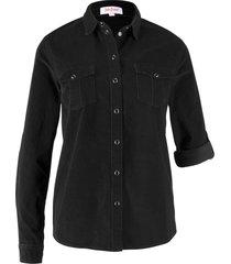 camicetta in velluto (nero) - john baner jeanswear
