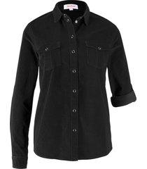 camicia in velluto (nero) - john baner jeanswear