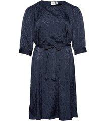 jrfalki 3/4 sl below knee dress - k knälång klänning blå junarose