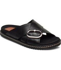 mykonos sandals shoes summer shoes flat sandals svart twist & tango