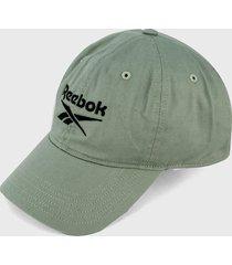 gorra verde-negro reebok fundation badge