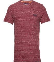 ol vintage embroidery tee t-shirts short-sleeved röd superdry