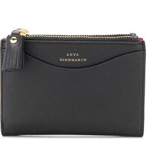anya hindmarch tassel detail branded wallet - black