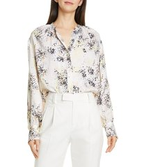women's equipment causette print silk blouse
