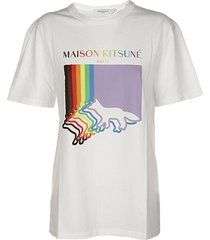 maison kitsuné fox flag classic tee-shirt