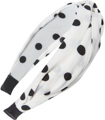 tasha polka dot headband, size one size - white
