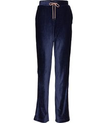 anella velvet pants casual byxor blå soaked in luxury