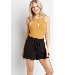 maurices womens black soft challis 5in shorts