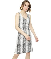 vestido gouache scuba lycra estampada multicolor - calce regular