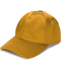 ami satin-finish baseball cap - yellow
