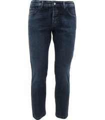 5 pocket oblique line jeans