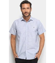 camisa manga curta forum slim fit masculina