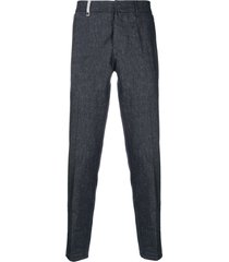 al duca d'aosta 1902 textured trousers - blue