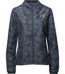 imotion printed jacket outerwear sport jackets blå newline