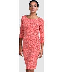 jurk alba moda koraal::wit