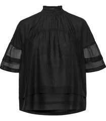 etna top blouses short-sleeved svart allsaints