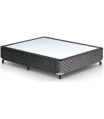 base cama box preto para colchã£o casal 138 x 188 x 25 plumatex 37 cm plumatex preto - preto - dafiti