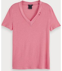 scotch & soda basic t-shirt met v-hals