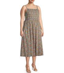 mauby women's plus romantic poplin dress - size 2x (18-20)