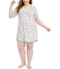 jenni plus size sleep shirt nightgown, created for macy's